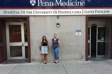 Laynie Dratch '17 (left) and Meghan Healey '11