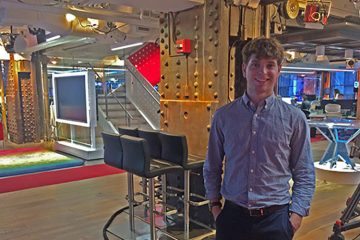 Benji Geisler '18 at NBC News Group headquarters in New York City.