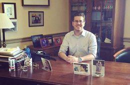Doug Whelan '19 in his Washington, D.C., office