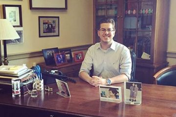 Doug Whelan '19 in his Washington, D.C., office