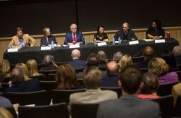 Members of the Media in the 21st Century panel.
