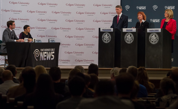 A 22nd Congressional District debate was held at Colgate October 20.