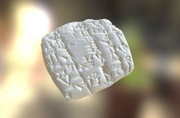 3D scan of a cuneiform tablet
