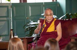 The Dalai Lama speaking during Global Leaders 2008.