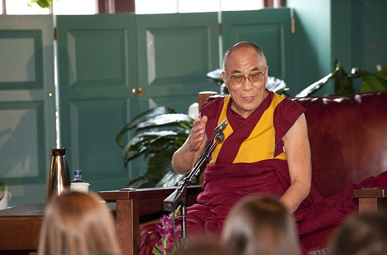 The Dalai Lama speaking during Global Leaders 2008.