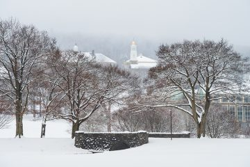 Winter shot from Colgate's hill