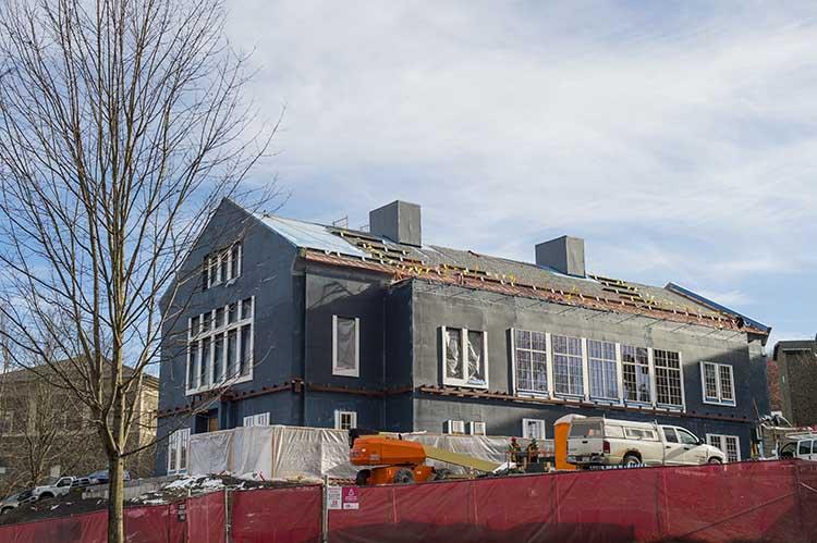 Construction of Benton Hall, new residence halls | Colgate ...