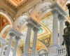 Statue holds torch of knowledge in Library of Congress foyer