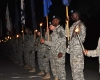 US Army Torchlight Tattoo Procession at Fort Jackson
