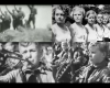 collage of images of children standing at attention from Riefenstahl film