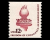 "US Post Office, Americana Issue:  ""Freedom of Conscience    – An American Right"" The Torch of Liberty, 12 cents; 1981"
