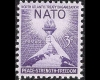 "US Post Office, Four Freedoms Issue:  ""NATO Torch of Liberty    and the Globe — Peace, Strength, Freedom"" 3 cents; 1952"