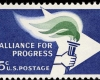 US stamp honoring the Alliance for Progress, 1963