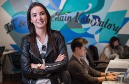 Samantha Radocchia '11 at her company, Chronicled Inc.