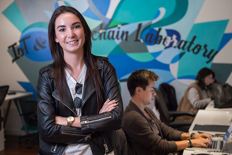 Samantha Radocchia '11 at her company, Chronicled Inc.