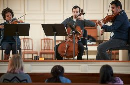 The Harlem Quartet plays at Colgate