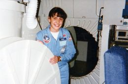 Jennifer Heldmann '98 at space camp as a child