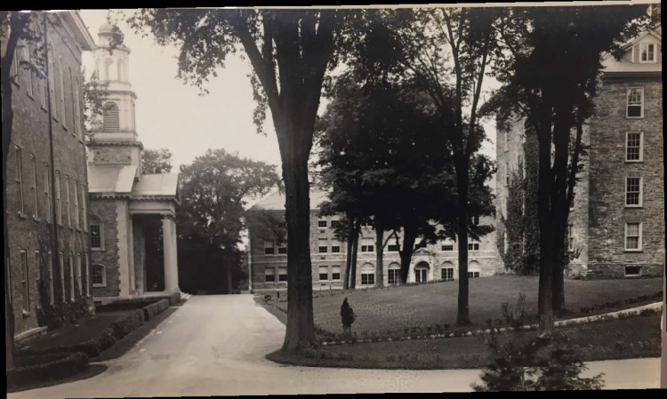 Alumni Hall & Memorial Chapel, c. 1940