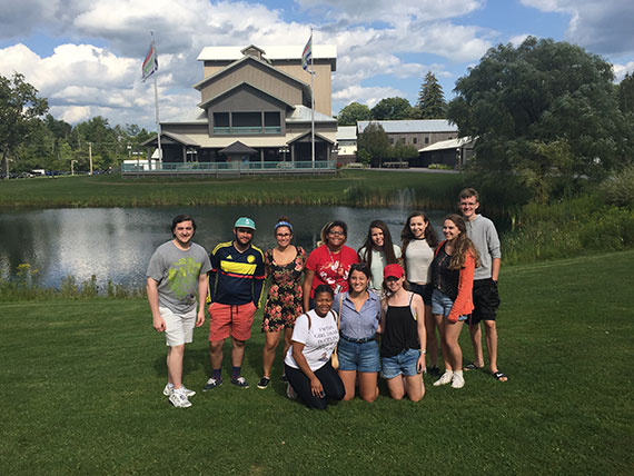 Students at the Glimmerglass Opera for Colgate's theater pre-orientation program.