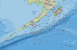 A map of seismometer locations