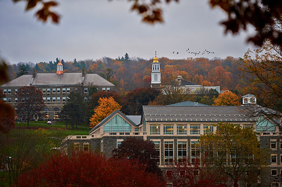 View of campus buildings