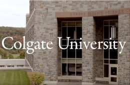 A photo of the outside of the HO Science Center on the campus of Colgate University.