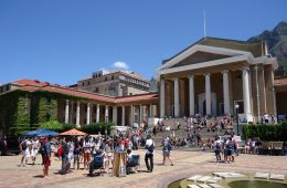 An exterior photo of the University of Cape Town