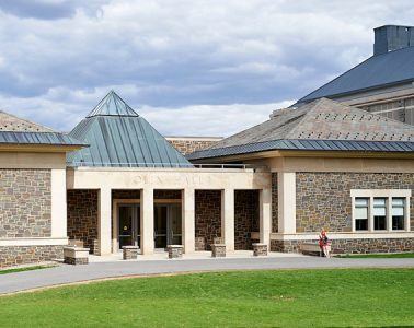 Exterior shot of Olin Hall