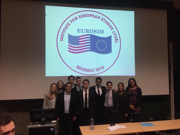 Eurosim 2018 Colgate Delegation