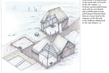 A drawing of what an ancient site in Venice may have looked like.