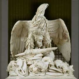 The ancient Roman funerary eagle that is behind many of our national eagle symbols