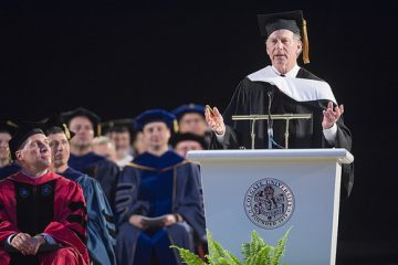 Richard Haas delivers an address at Commencement 2018