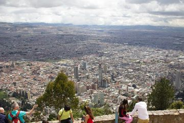A view of the Colombian capital of Bogota from atop Mount Monserrate.