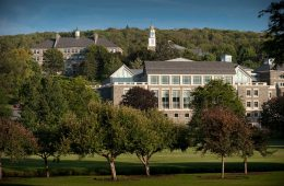 campus buildings and trees