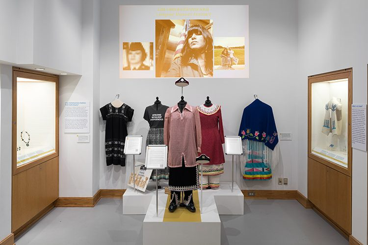 Indigenous outfits on display at the Longyear Museum of Anthropology