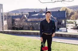 Bobae Kang '16 poses on Colgate's campus