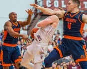 Bucknell player elbows Colgate player in face