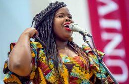 R&B artist Danielle Ponder sings in Memorial Chapel