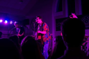 Alternative rock band The Wrecks perform at Parker Commons. Local Colgate musician Zack Ceme performed for the pre-show.