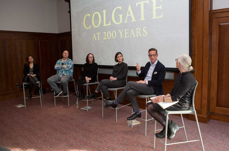 A panel of alumni, parents, and faculty explore how a Colgate liberal arts education can lead to success in a variety of creative pursuits. Gerard Gaskin / Colgate University