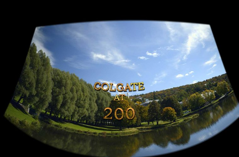 Colgate at 200 title over campus scenic image